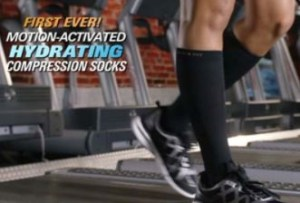 copper fit hydrating compression socks