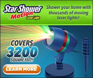star shower motion lights