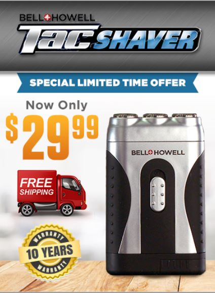 Tac Shaver TV Offer