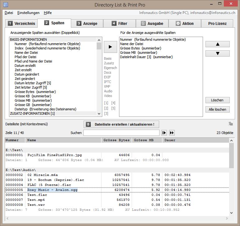 Verzeichnisliste in textdatei html oder xml tabelle ausgeben for Tabelle 2 spalten