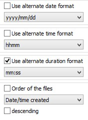 Output Formats of Directory List & Print