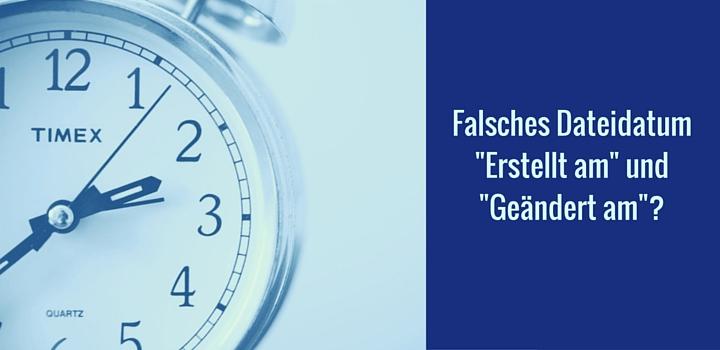 Mit File Date Corrector falsches Dateidatum korrigieren