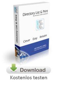 Dateilisten erstellen mit Directory List & Print