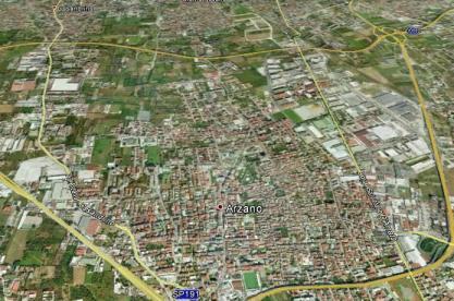 Una vista del Territorio di Arzano dal Satellitte