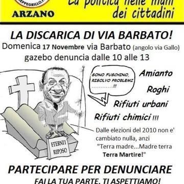 Arzano, discarica di via Barbato; domenica gazebo del Movimento 5 Stelle