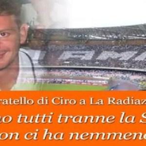 """Napoli, il fratello di Ciro Esposito accusa il Calcio Napoli: """"da loro neanche una telefonata. Eppure lui si trova in questo stato per tifare la sua squadra"""". Poco dopo arriva il comunicato di solidarietà di De Laurentiis. Ascolta l'audio"""