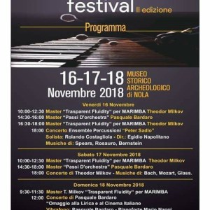 Nola, tutto pronto per la seconda edizione del 'Nola International Percussion Festival'