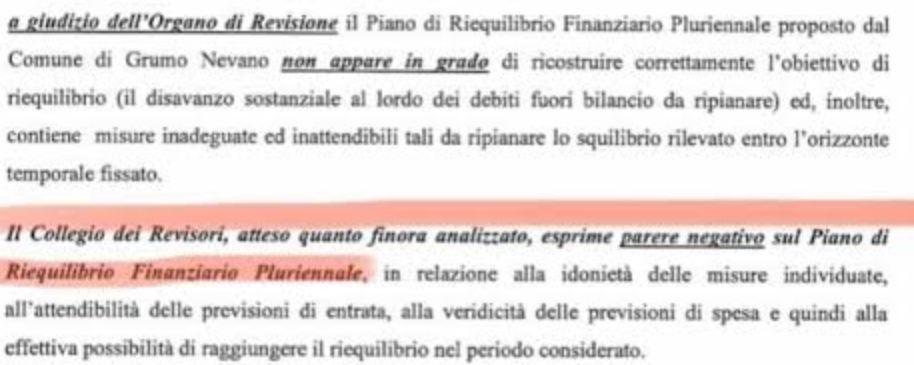Grumo Nevano, lo spettro del dissesto finanziario e l'inutile e costoso piano di rientro dell'ex sindaco Di Bernardo bocciato dai revisori dei conti