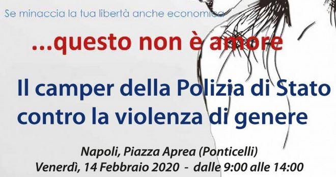 """""""Questo non è amore"""", la campagna d'informazione della Polizia contro la violenza sulle donne nel giorno di San Valentino"""