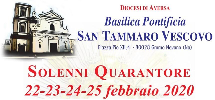 Quarantore alla Basilica Pontificia di San Tammaro di Grumo Nevano. Don Carmine Spada:  Mettiamoci in cammino e apriamo il nostro cuore a Gesù