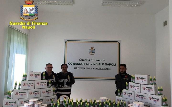 Coronavirus, gel igienizzante illegale. Sequestrata fabbrica a Sant'Antimo. Il video