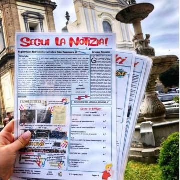 """Grumo Nevano, """"Segui la notizia""""; il giornale dell'Azione Cattolica San Tammaro. Un sogno diventato realtà"""