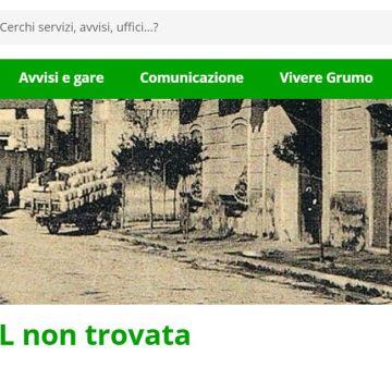 """Grumo Nevano,  la transizione digitale fantasma: 3600 Euro per il """"vestitino"""" nuovo al vecchio sito del comune. Guarda il video"""