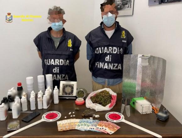 Intercettata droga dalla Spagna. Finanzieri si fingono corrieri e arrestano i due presunti pusher