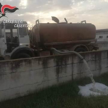 San Tammaro: sversamento illecito di liquami. Tre persone deferite in stato di libertà