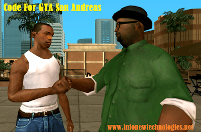 Cheat codes For GTA San Andreas