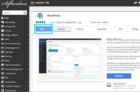 How to Install Wordress in cPanel
