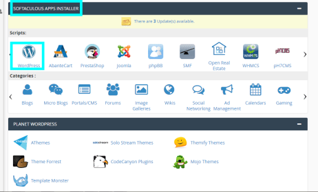 Install Wordress in cPanel
