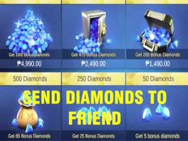 Send Diamonds on Mobile Legends