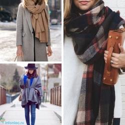 10+ módon, hogy télen sálat viseljen: kabátot, lefelé kabátot, kapucnis