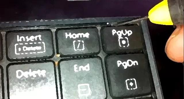 Teclas de atalhos no teclado