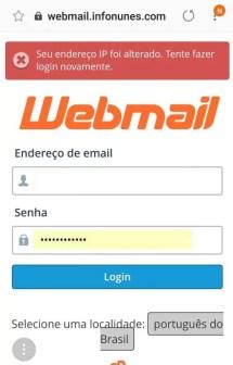 Erro ip Webmail Cpanel
