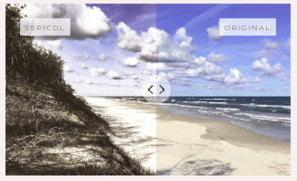 before and after image slider