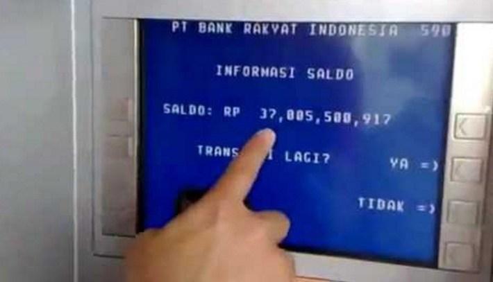 Saldo Rekening Bank BRI