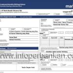 Cara Isi Slip Setoran atau Transfer Bank Mandiri
