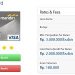 Buka Kartu Kredit Mandiri Silver Card Berlogo VISA