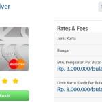 Buat Kartu Kredit BRI Mastercard Standard (Silver)