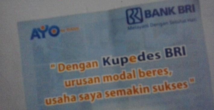 Pinjaman Kupedes Bank BRI