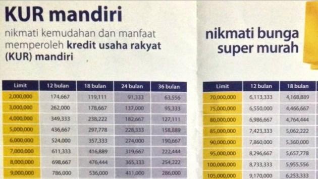 Kredit Usaha Mikro Bank Mandiri 2016