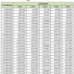 Tabel Angsuran Dana Talangan Haji Bank BTN Syariah 2016