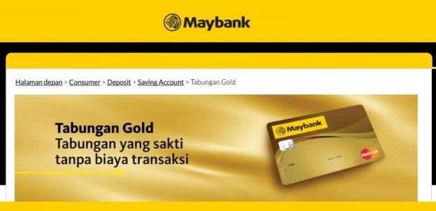 Tabungan Gold Maybank BII