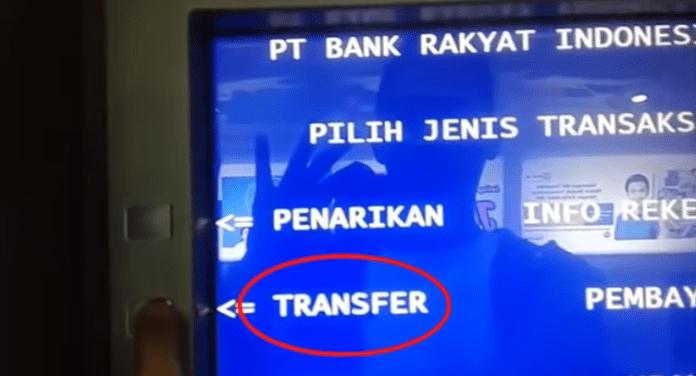Transfer Uang lewat ATM BRI