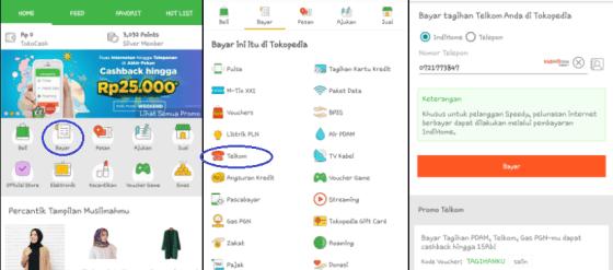 Bayar Indihome di Aplikasi Tokopedia