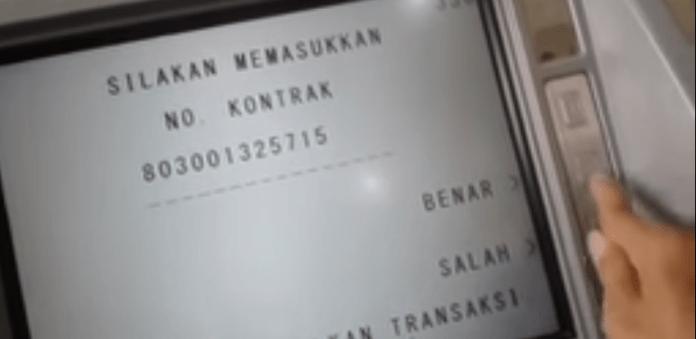 Bayar Tagihan FIF lewat ATM BRI