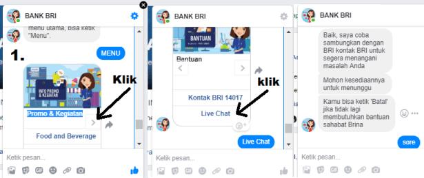 live chat bri lewat facebook