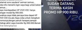 modus penipuan hp murah di status facebook