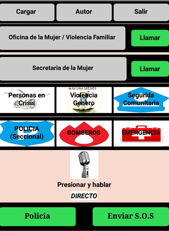 Diseño de la aplicación enviado a infopico.com por el programador Claudio Rambur Martínez