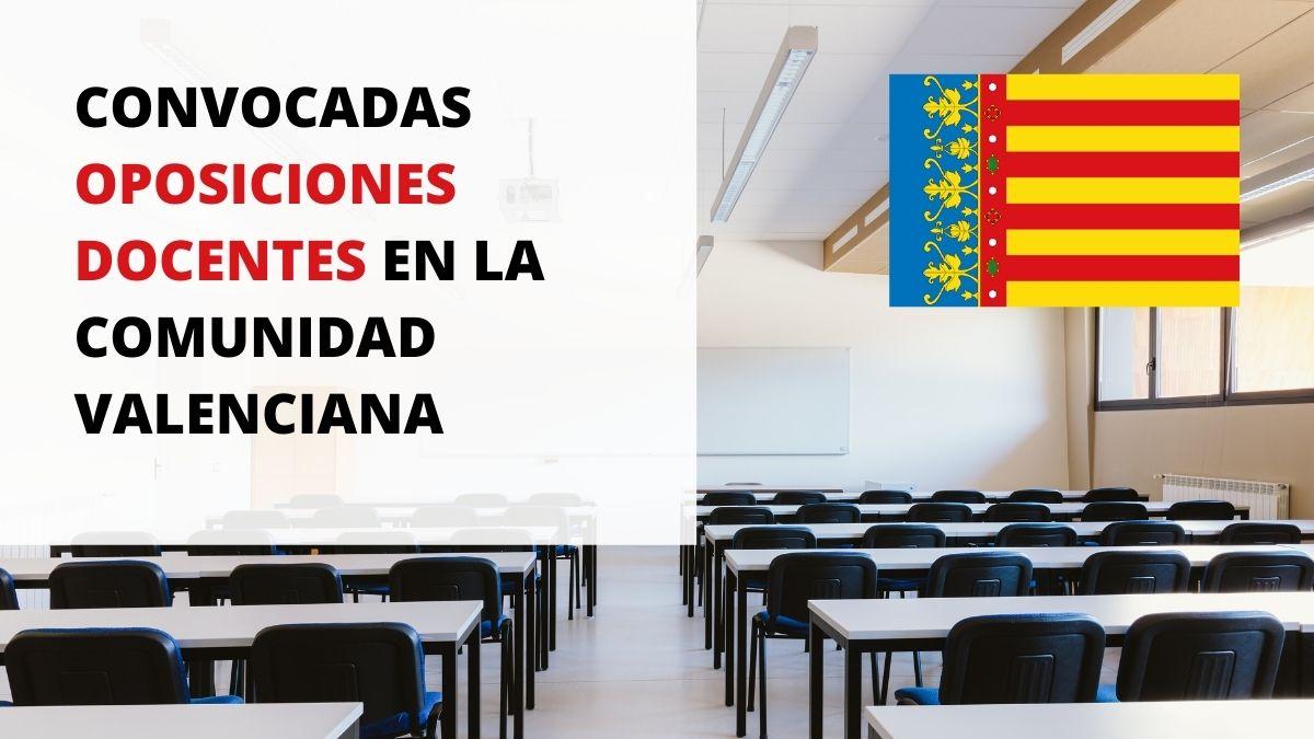 Convocatoria de 3.542 plazas para profesores de Secundaria, EEOOII, PTFP, Música y Artes Escénicas y Artes Plásticas y Diseño en la Comunidad Valenciana