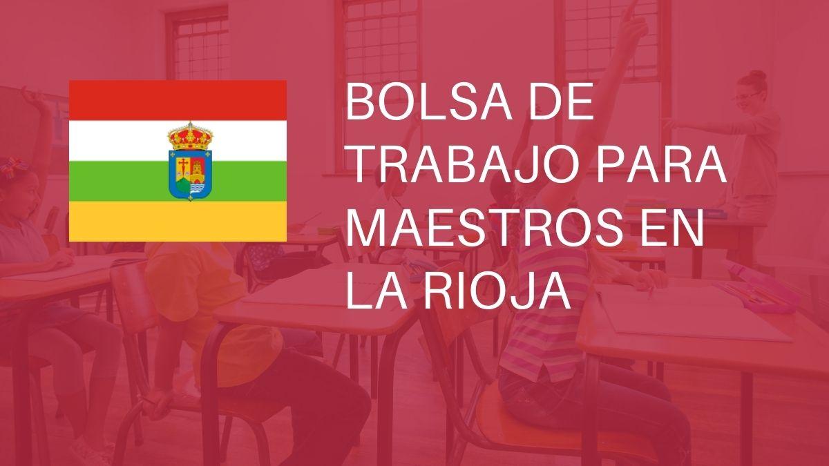 La Rioja convoca bolsa extraordinaria para maestros (audición y lenguaje)
