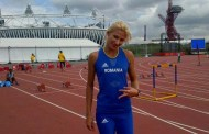 Atleta Cristina Bujin pe podium la reuniunea de sala de la   Birmingham