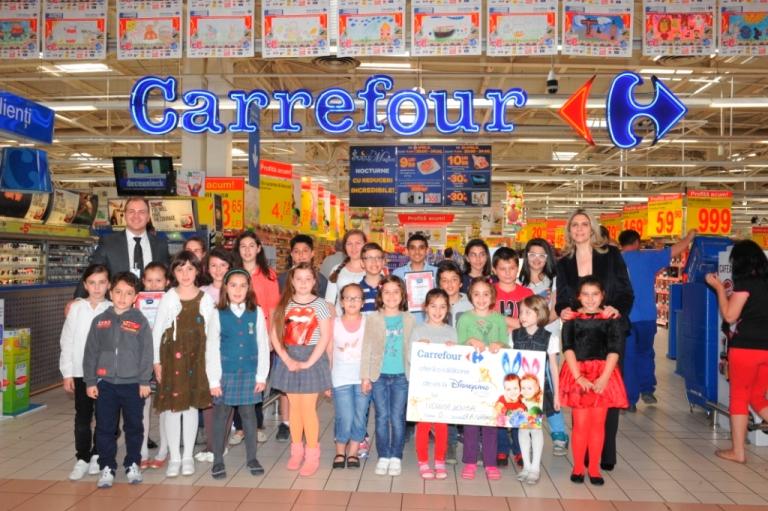 275.000 de elevi din aproximativ 650 de școli din 15 orașe au fost invitați de Carrefour să deseneze