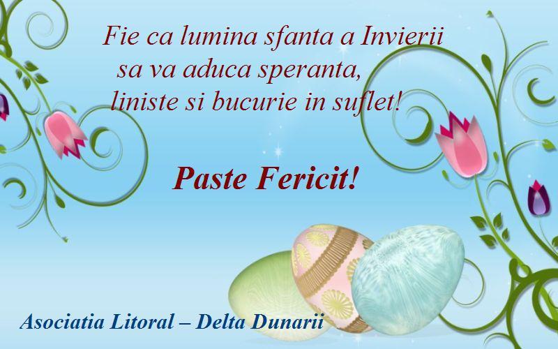 Asociatiei Litoral - Delta Dunarii - Un Paste Fericit!