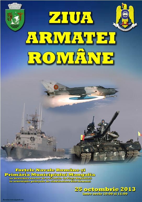 Ziua Armatei Române, sărbătorită la Mangalia