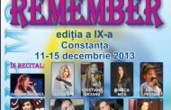 """Ediția a IX-a a Festivalului Internațional """"Remember"""" la Constanta"""