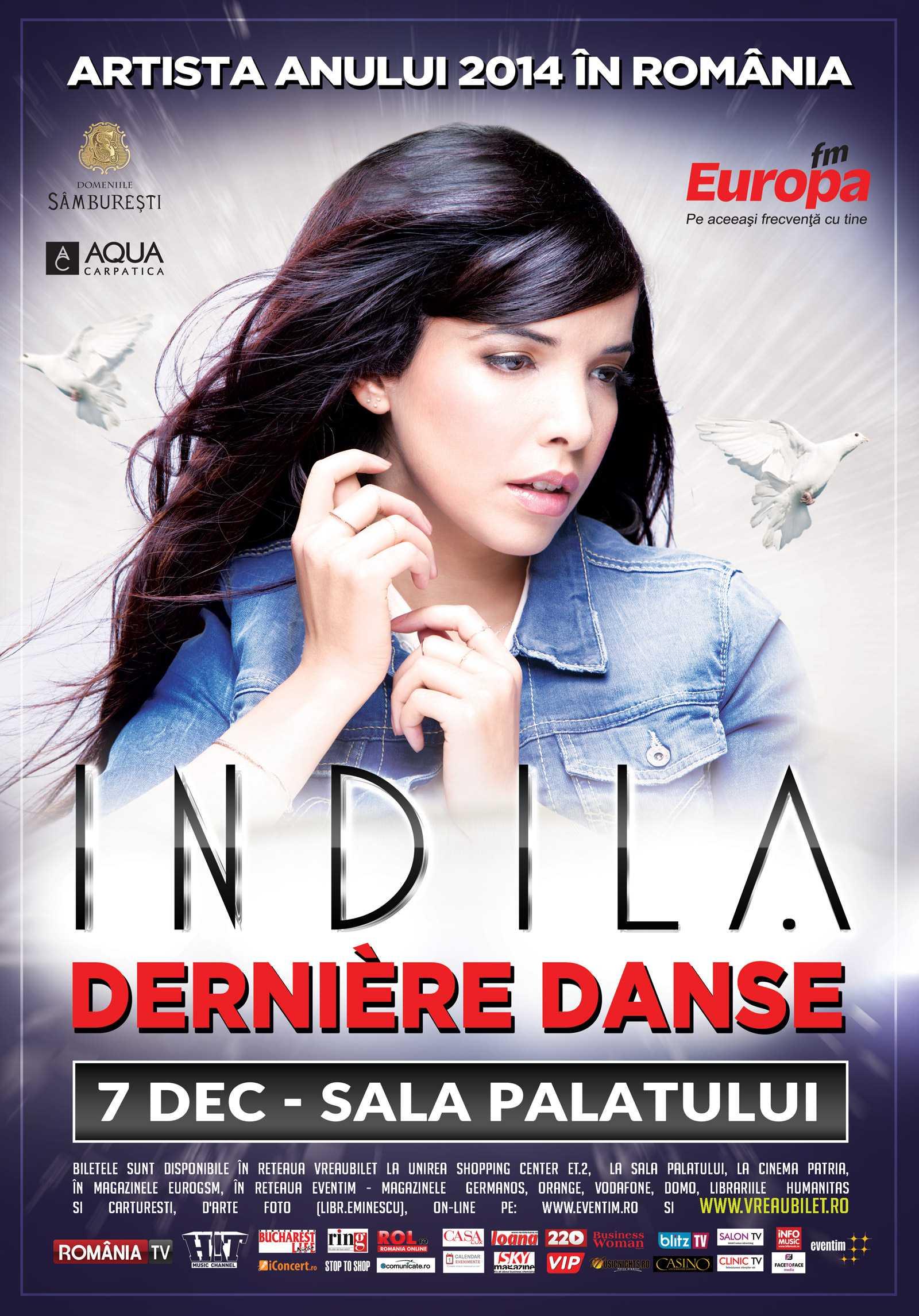 Mai multe categorii de bilete pentru concertul Indila au fost epuizate