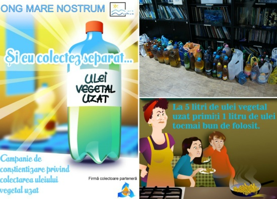 Mare Nostrum organizeaza o campanie de  colectare a uleiului vegetal uzat